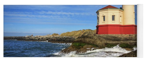 Coquille River Lighthouse At Bandon Yoga Mat