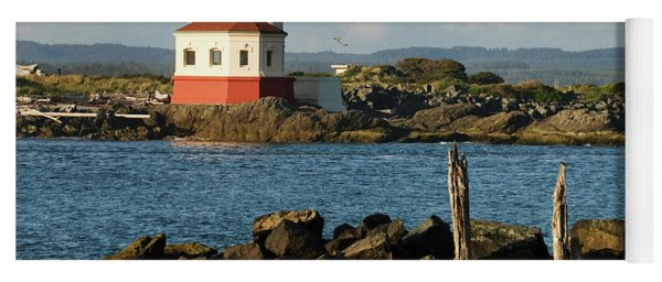 Coquille River Lighthouse Bandon Oregon Yoga Mat