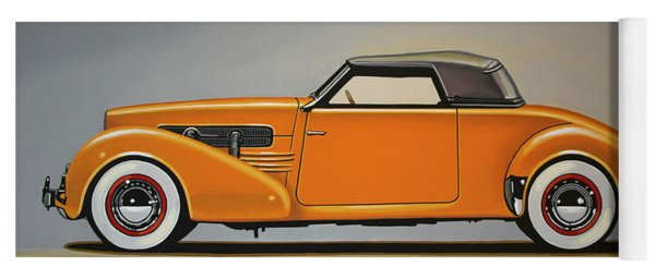 Cord 810 1937 Painting Yoga Mat