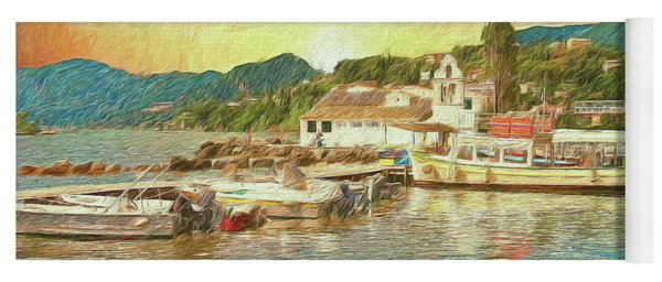Yoga Mat featuring the photograph Corfu 30 My Passion Paintography by Leigh Kemp