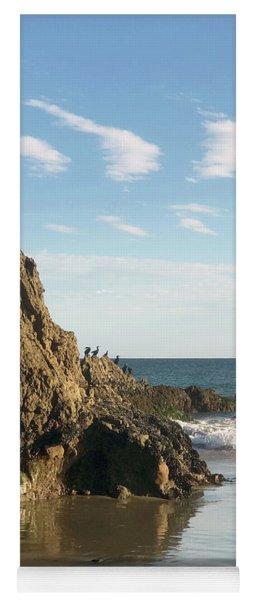 Cormorants At El Madador Beach Yoga Mat