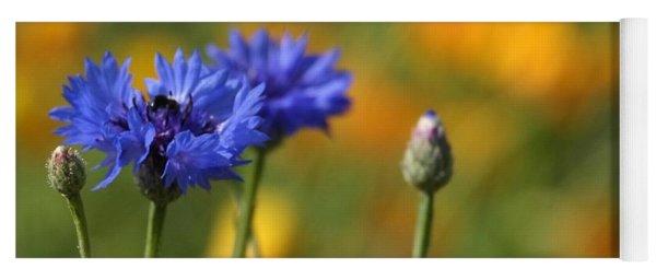 Cornflowers -2- Yoga Mat