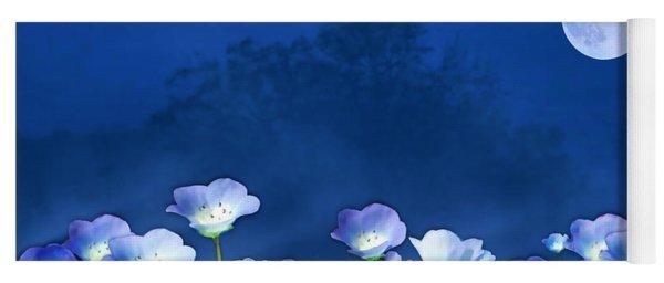 Cornflowers In The Moonlight Yoga Mat