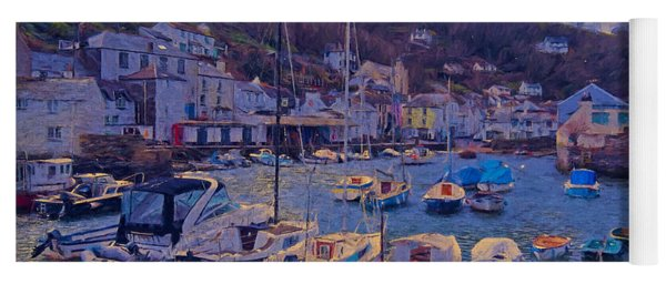 Cornish Fishing Village Yoga Mat