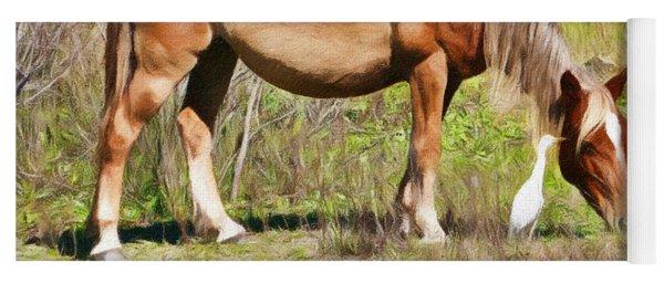 Corolla's Wild Horses Yoga Mat