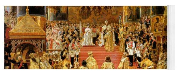 Coronation Of Emperor Alexander IIi Yoga Mat