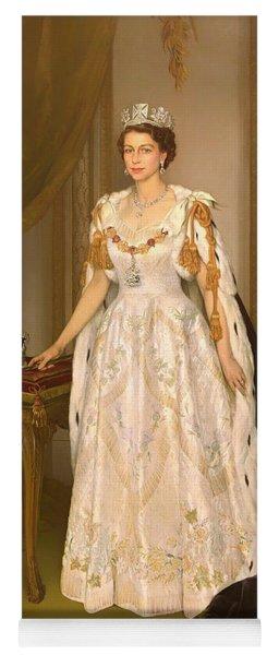 Coronation Portrait Of Queen Elizabeth II Of The United Kingdom Yoga Mat