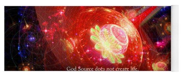 Cosmic Inspiration God Source 2 Yoga Mat