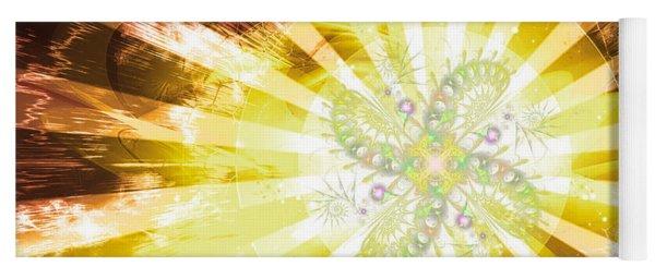 Cosmic Solar Flower Fern Flare 2 Yoga Mat