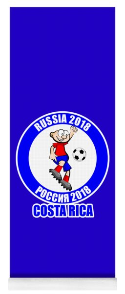 Costa Rica In The Soccer World Cup Russia 2018 Yoga Mat