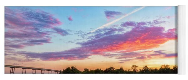 Cotton Candy Sunset Yoga Mat