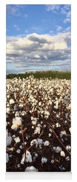 Cotton Field In South Carolina Yoga Mat