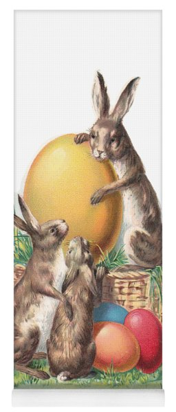 Cottontails And Eggs Yoga Mat