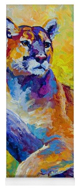 Cougar Portrait I Yoga Mat