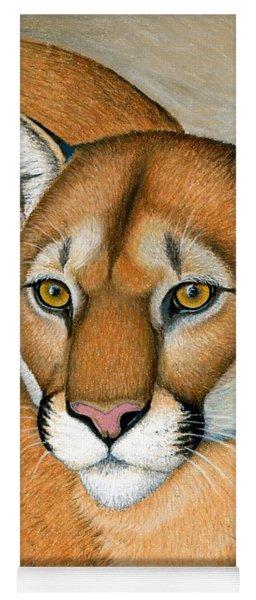 Cougar Portrait Yoga Mat