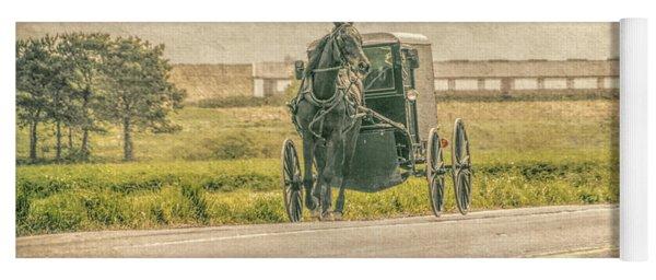 Country Amish Ride  Yoga Mat