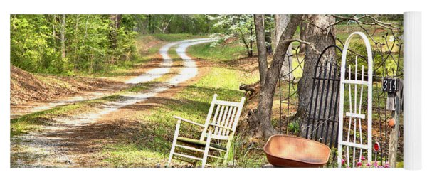 Country Driveway In Springtime Yoga Mat