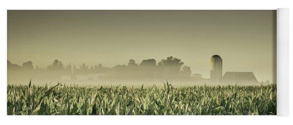 Country Farm Landscape Yoga Mat