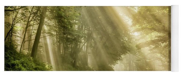Country Road Rays Of Light Yoga Mat