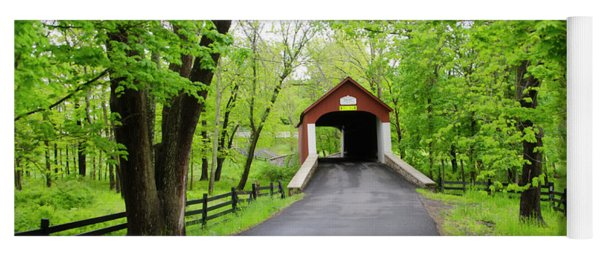 Country Roads - Bucks County - Knechts Covered Bridge Yoga Mat