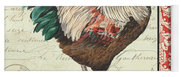 Country Rooster 1 Yoga Mat