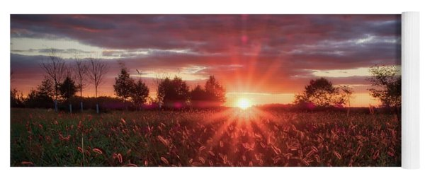 Country Sunset Yoga Mat