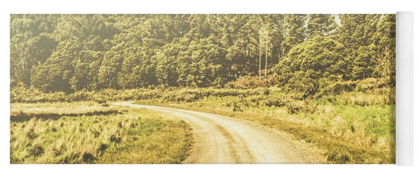 Countryside Road In Outback Australia Yoga Mat