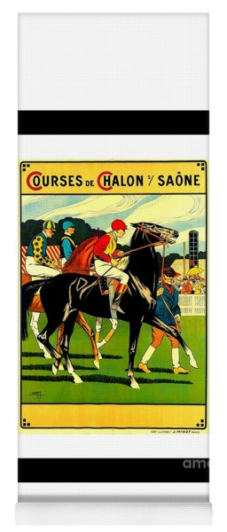 Courses De Chalon French Horse Racing 1911 II Yoga Mat