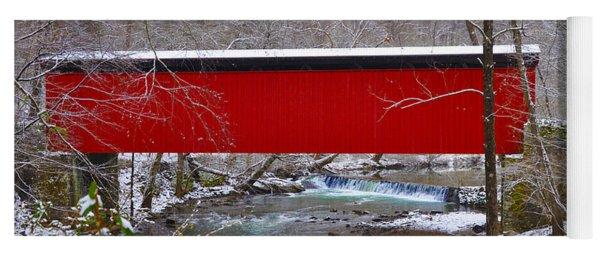 Covered Bridge Along The Wissahickon Creek Yoga Mat