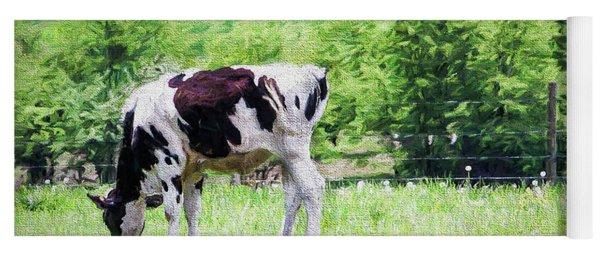 Cow Grazing Yoga Mat