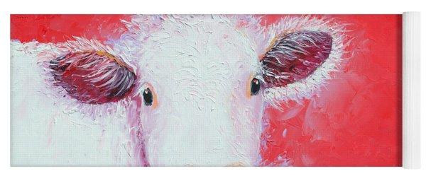 Cow Painting - Charolais Yoga Mat