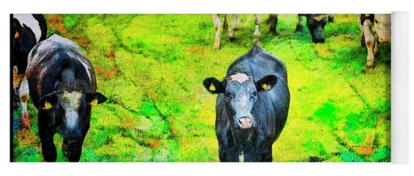 Yoga Mat featuring the photograph Cow Patch by Craig J Satterlee