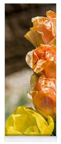Cow Tongue Prickly Pear Blossom Row Yoga Mat