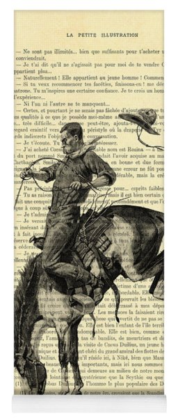 Cowboy And Horse, Western Art Yoga Mat