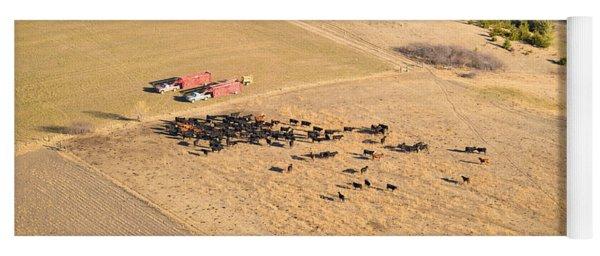 Cows And Trucks Yoga Mat