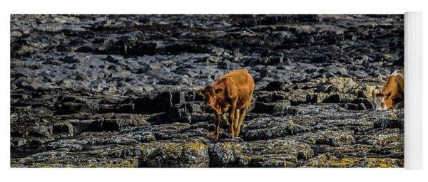 Cows On The Rocks Yoga Mat