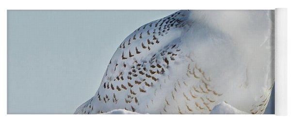 Yoga Mat featuring the photograph Coy Snowy Owl by Rikk Flohr