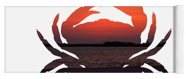 Crab Sunset Yoga Mat
