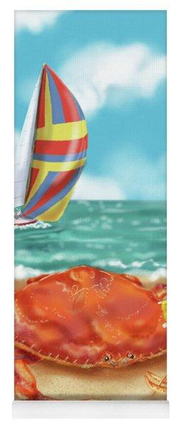 Crab With Cocktail Umbrella Yoga Mat