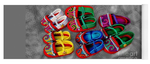 Crafted Children's Shoes Of Northwest Thailand Yoga Mat