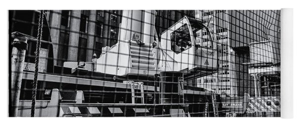 Crane In Manhattan Yoga Mat