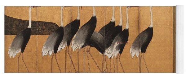 Cranes Yoga Mat