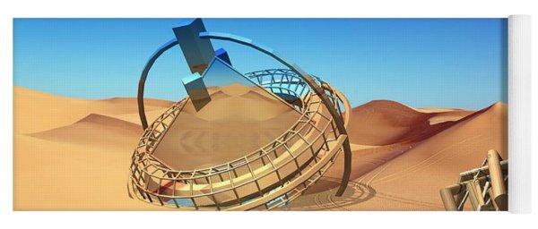 Crash Space Craft In The Desert Yoga Mat