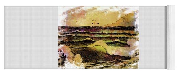 Crashing Waves And Seabird Yoga Mat