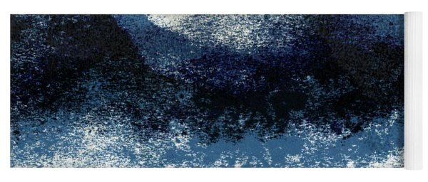 Crashing Waves- Minimal Art By Linda Woods Yoga Mat