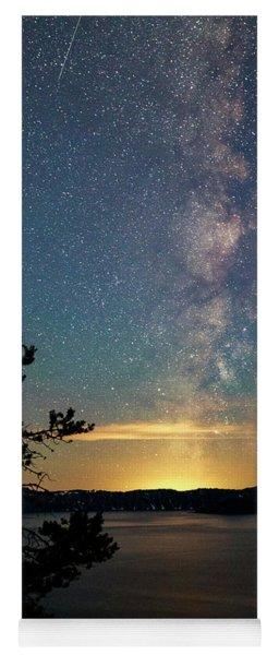 Crater Lake Milky Way Yoga Mat