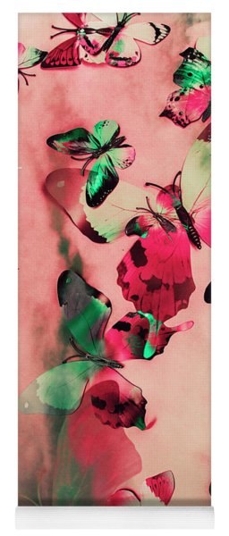Creative Butterfly Background Yoga Mat