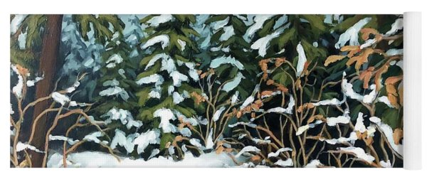 Creek, Winter, Snow Yoga Mat