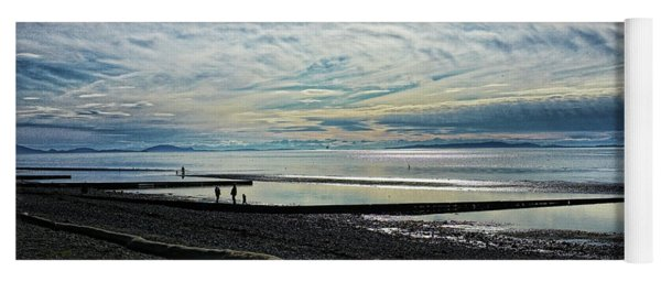 Crescent Beach At Dusk Yoga Mat