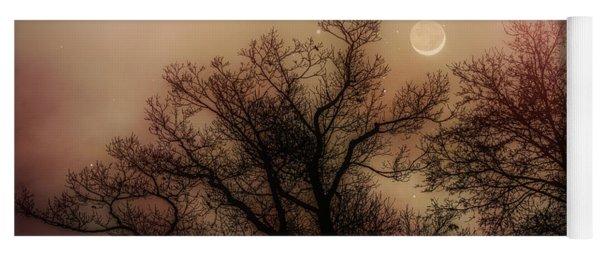 Crescent Between The Trees Yoga Mat